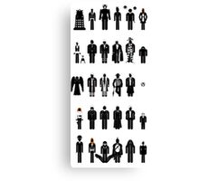 Dr Who recognition guide Canvas Print