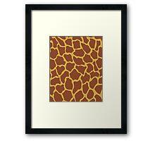 Pantone Giraffe Framed Print