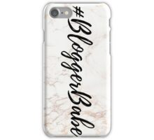 Pink Marble Effect #BloggerBabe iPhone Case/Skin