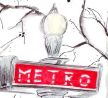 Paris Metro watercolour illustration. Sticker