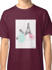Parisienne watercolour illustration. Classic T-Shirt