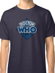 Doctor Who - Diamond Logo Blue Black Bars Classic T-Shirt