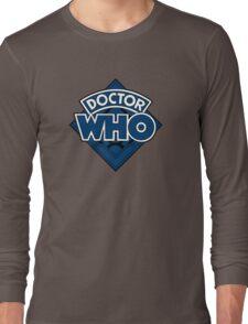 Doctor Who - Diamond Logo Blue Black Bars Long Sleeve T-Shirt