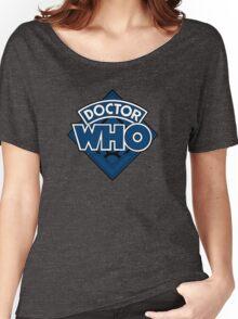 Doctor Who - Diamond Logo Blue Black Bars Women's Relaxed Fit T-Shirt