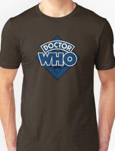Doctor Who - Diamond Logo Blue Black Bars Unisex T-Shirt