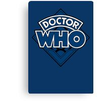 Doctor Who - Diamond Logo Blue Black Bars Canvas Print