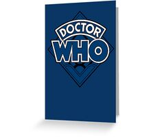 Doctor Who - Diamond Logo Blue Black Bars Greeting Card