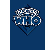 Doctor Who - Diamond Logo Blue Black Bars Photographic Print