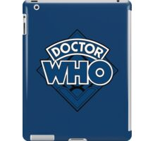 Doctor Who - Diamond Logo Blue Black Bars iPad Case/Skin