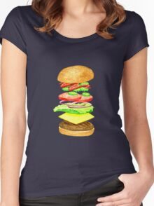 Anatomy of a Burger Women's Fitted Scoop T-Shirt