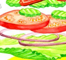Anatomy of a Burger Sticker
