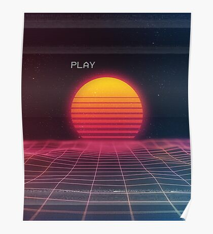 Digital sunset Poster
