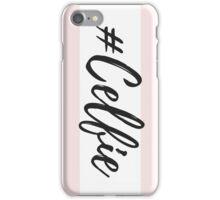 Pink Candy Stripe #Celfie iPhone Case/Skin