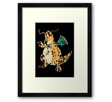 Dragonite Splatter Framed Print