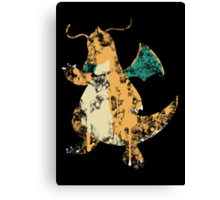 Dragonite Splatter Canvas Print