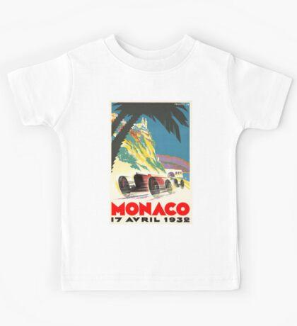 """MONACO GRAND PRIX"" Vintage Auto Racing Print Kids Tee"