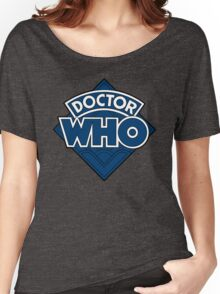 Doctor Who - Diamond Logo Flat Blue. Women's Relaxed Fit T-Shirt