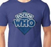 Doctor Who - Diamond Logo Flat Blue. Unisex T-Shirt