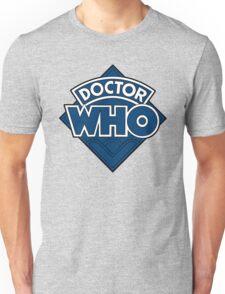 Doctor Who - Diamond Logo Flat Blue. Unisex T-Shirt