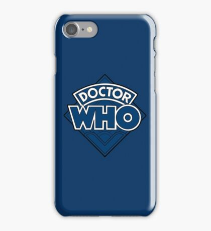 Doctor Who - Diamond Logo Flat Blue. iPhone Case/Skin