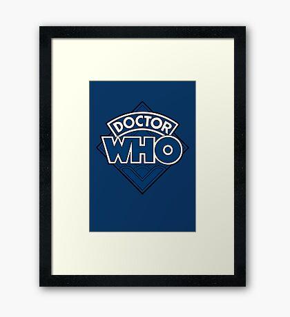 Doctor Who - Diamond Logo Flat Blue. Framed Print