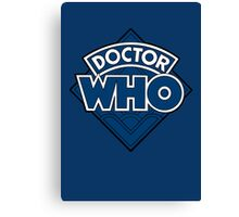 Doctor Who - Diamond Logo Flat Blue. Canvas Print