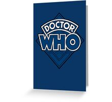 Doctor Who - Diamond Logo Flat Blue. Greeting Card
