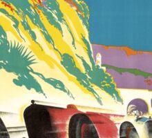 """MONACO GRAND PRIX"" Vintage Auto Racing Print Sticker"
