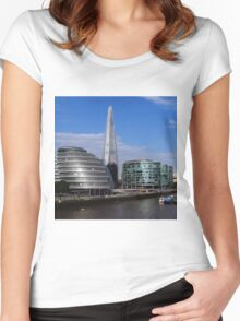 More London, City Hall & The Shard Women's Fitted Scoop T-Shirt
