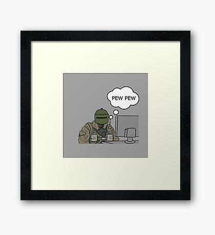 Pew Pew Framed Print