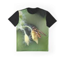 Hoverfly on Greater celandine Graphic T-Shirt