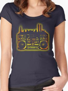 Boombox City Women's Fitted Scoop T-Shirt