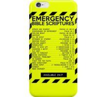 Emergency Bible Scriptures Numbers (New and Improved) iPhone Case/Skin