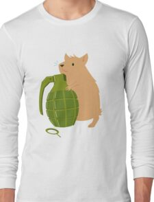 Hamster with a Handgrenade Long Sleeve T-Shirt