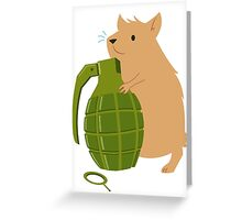 Hamster with a Handgrenade Greeting Card