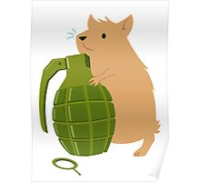 Hamster with a Handgrenade Poster