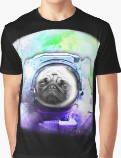 Space Pug Graphic T-Shirt