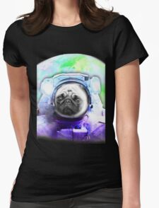 Space Pug Womens Fitted T-Shirt