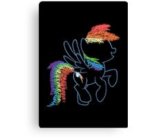 Sprayed Rainbow Dash Canvas Print
