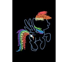 Sprayed Rainbow Dash Photographic Print