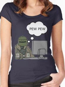 Pew Pew! Women's Fitted Scoop T-Shirt
