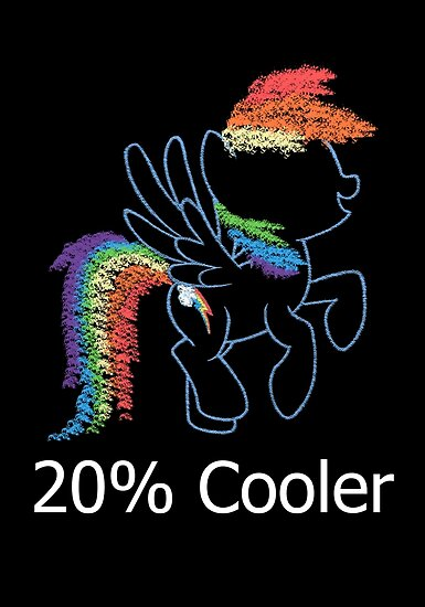 Sprayed Rainbow Dash (20% Cooler) by Colossal