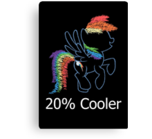Sprayed Rainbow Dash (20% Cooler) Canvas Print