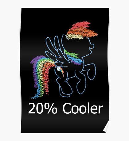 Sprayed Rainbow Dash (20% Cooler) Poster