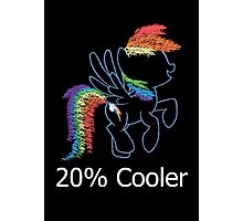 Sprayed Rainbow Dash (20% Cooler) Photographic Print