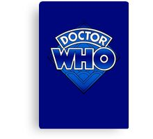 Doctor Who - Diamond Logo Blue gradient. Canvas Print