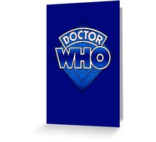 Doctor Who - Diamond Logo Blue gradient. Greeting Card