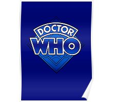 Doctor Who - Diamond Logo Blue gradient. Poster