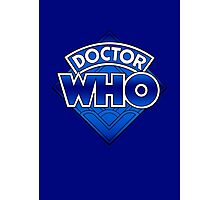 Doctor Who - Diamond Logo Blue gradient. Photographic Print