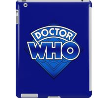 Doctor Who - Diamond Logo Blue gradient. iPad Case/Skin
